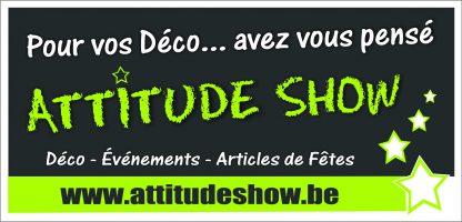 Bandeau deco Attitude Show pour vitrines